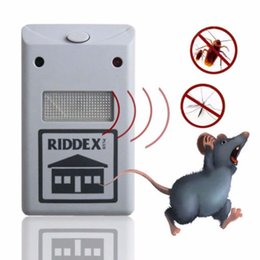 Wholesale Garden Rodents - New Efficient Riddex Pest Repelling Aid Outdoor Garden Yard Ultrasonic Sonic Mole Vole Rodent Mosquito Killer Pest Repeller EU