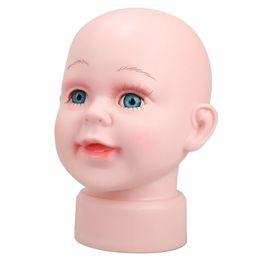 Wholesale Child Mannequin Display - Children Manikin Head Model Foam Female Styrofoam Wig Mannequin Hair Hat Glasses Display (Boys)