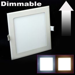 Wholesale Grow Energy - Wholesale- 3W 4W 6W 9W 12W 15W 25W AC85~265V Dimmable LED Ceiling Cold white Warm White LED Downlights Square Panel Led grow Light Panel