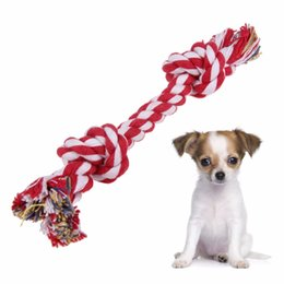 Wholesale Dog Tug Rope - Dog's Toys Cute Pastel Knot Cotton Rope Bone Chew Tug Toy for Pet Doggy dog Pet Supplies