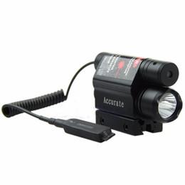 Wholesale Led Laser For Gun - Tactical Red Laser Beam Sight LED Flashlight For Gun Rifle Pistol Hunting