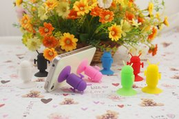 Wholesale Silicone Android Robot - Wholesale-Cute fashion silicone Android Robot Shape Cute Cell Phone Stand Holder Suction Cups Android Robot Holder Stand Silicone Sucker