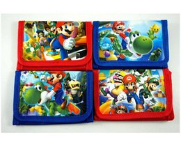 Wholesale Children Purse Sale - Hot Sale!24Pcs Super Mario Purses Money Bag Kawaii Bag Coin Pouch Children Purse Small Wallet Party Supplies Gift