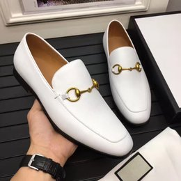 Wholesale Cheap Low Heels - The cheap leather luxury brand a sign of man's best rubber does not tie his shoes