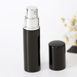 Wholesale Spray Atomiser - Black 5CC 5ML Hot pump empty perfume Sprayer bottle 5ml Aluminum glass Anodized Compact parfum atomiser fragrance mini spray scent-bottle