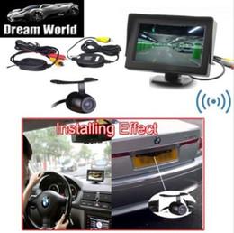 Wholesale Auto Dvd Monitor - 4.3 Inch Wireless Car Rear View Camera DVD VCR Auto Color Monitor 2 Video Input
