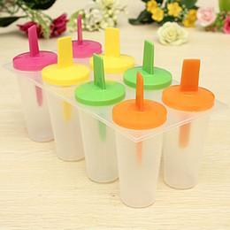 Мороженое замороженный йогурт онлайн-8 шт./компл. DIY Ice Lolly Cream Maker форма эскимо мороженое Pop формы йогурт Ice Box замороженные лечит морозильник
