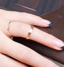 Wholesale Pinkie Ring - JZ253 Korean jewelry simple and elegant and generous couple on the ring tail ring pinkie ring joints
