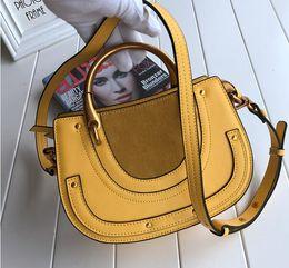 Wholesale Hand Bracelet Thread - 2017 new HighEnd Style Medium Nile Bracelet Ring Circle Hoof Strap Corssbody Flap Bag women hand bags W22*H16*D8cm