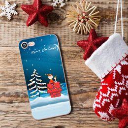 Feliz natal iphone on-line-Merry christmas mobile phone shell macio tpu silicone case capa para iphone 8 5 se 5s 6 6 s 7 plus ac010