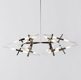 Wholesale Chandelier Black Light Bulbs - Modern branch 24 light modular Chandelier Lights Modern Minimalist Decoration Nordic Agnes Fixtures hanging light G9 bulb LLFA