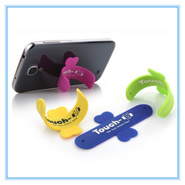 Wholesale One Finger Ring - Mini Touch U One Touch Silicone Stand Finger Rings Universal Portable Phone Holder For iPhone 6 5s 7 Samsung Tablet PC