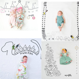 Wholesale Photography Background Fabric - Ins Newborn Baby Photography Background Props Baby Blankets Lovely Cloth Mat Baby Lay for Photgraphing fabric backdrops