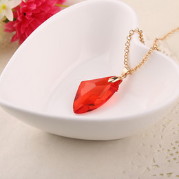 Wholesale Philosopher Stone - Ravenclaw School And The Philosophers Anime Vouge Stone Necklace Red Pendant for boy girl birthday party gift free shipping