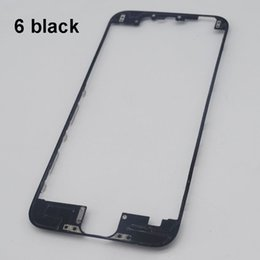 Wholesale Iphone 4s Screen Frame - LCD Frame With Hot Glue Middle Bezel Frame for iPhone 6 Plus 5s 5c 4 4s Touch Screen LCD