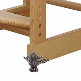 Wholesale Furniture Chests - Wholesale- Zinc Alloy Retro Antique Bronze Jewelry Chest Wood Box Decorative Feet Leg Corner Support 4 Pcs 4.2x3cm Furniture Accessories