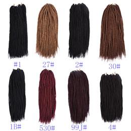 i riccioli allentati neri si intrecciano Sconti Estensioni dei capelli all'uncinetto 18 Inch 90 Roots / Pack Treccia sintetica dei capelli 200G 1 pezzo Solo 8 colori Crochet Trecce Capelli