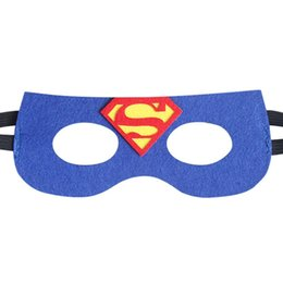 Wholesale Iron Man Dress Up - Halloween Costumes Cartoon Animal Bat Iron Man Superman Felt Eye Masks Birthday Party Favors Dress-Up Cosplay Halloween outfit