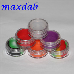 Wholesale Silcone Toys - 3ml clear acrylic wax concentrate containers, Plastic container with silcone inner Non-stick silicone Dab BHO Hash Oil Dry Herb Storage Jars