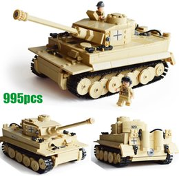 Wholesale Kazi Toys - WW2 995pcs Century Military German King Tiger Tank 3D Model 323 Cannon Building Blocks Bricks Toys Sets 3D Model Kazi KY82011