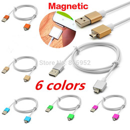 Wholesale Led Blue Magnetic - NEW Led light micro usb cable strong magnetic adapter charger for samsung huawei google lg google htc xiaomi