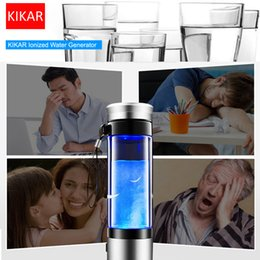 Wholesale Aqua Cups - Anti Aging Antioxidant Aqua Machine Ionizer Water Travel Bottle Cup ORP Alkaline PH Rich Lid Stainless USB H2 H2O Redox Dissolved Oxygen