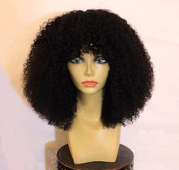 Wholesale Cheap Curling Full Lace Wigs - 180% Density Afro Kinky Curl Full Lace Glueless Wigs Human Hair Wigs For Black Women Cheap Price Natural Color #1 #1b #2 #4