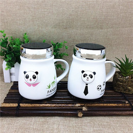 Wholesale Money Cup - Creative cartoon panda ceramic mug cup cup cup with cover large capacity of tourist souvenirs in Chengdu