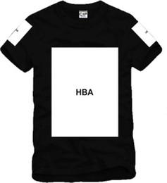 Wholesale Hood Air T Shirt - 2017 Brand Men short sleeve cotton blend summer t shirt Hood By Air HBA X Been Trill Kanye blank print sportswear Hba tee men t shirts
