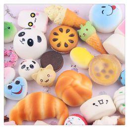 Wholesale New Squishies - New Kawaii Squishies Rilakkuma Donut Cute Phone Straps Slow Rising Squishies Bag Charms Jumbo Buns Charms Handbag Squishy Free Shipping