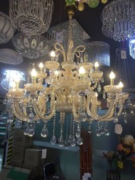 Wholesale European Led Crystal Chandeliers - European style18pcs lights crystal chandelier lamp lamp bedroom living room lights restaurant Jane creative LED crystal lamp candle