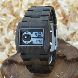 Wholesale Multifunction Digital Timer - 2017 Fashion Men Sport Multifunction Wristwatches Timer Analog Quartz Movement Wristwatches Wood Dial for Sale ZS-W021A