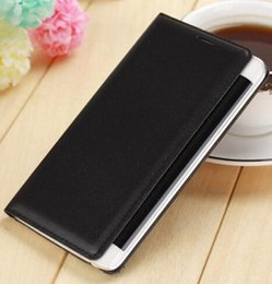 Wholesale Note Flip Battery Cover - For Samsung Galaxy Note Edge N9150 Slim Shell Battery Housing Leather Case Flip Cover Original Wallet Holster