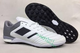 Wholesale Indoor Soccer Teams - 2017 New Mundial Team Modern Craft Astro TF Turf Soccer Shoes Football Boots Cheap Soccer Boots Mens Soccer Cleats for Men Black
