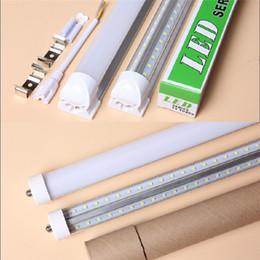 Wholesale Pin Angle - T8 4ft 5ft 6ft 8ft Cooler Door Led Tubes Single Pin FA8 Integrated V-Shaped 270 Angle Led Light Tube AC85-265V