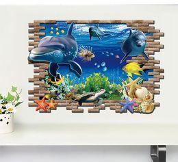 Wholesale Underwater Light Housing - Finding Nemo Wall stickers 3D ocean underwater world fashion creative wall stickers kids room decorative Home decor