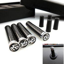 Wholesale Car Modified Accessories - Carbon Fiber Auto Lock Modified Door Pin Universal for VW Golf Passat Polo Bora Jetta Tiguan Styling Car Accessory