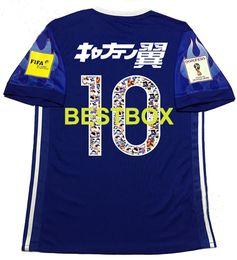 Wholesale Arrival Japan - New Arrival 2017 JapanTsubasa jeresy clothes Japan Home Blue Tsubasa Man shirt free shipping