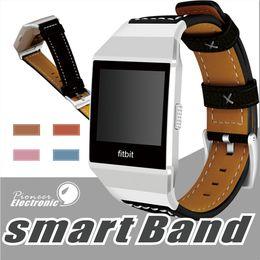 Wholesale Adjustable Wrist Bands - For Fitbit Ionic Band Adjustable Leather Band Bracelet Replacement Wrist Watch Band for Fitbit Ionic Watch