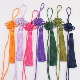 Wholesale Chinese Style Pendant Lights - Pendant Chinese Knot Tassels Spike Decoration Pendants New Year Christmas Home Decorations Traditional Arts Lucky Knots Hanging 0 48lj H1