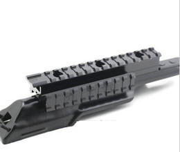 Wholesale rail mount accessories - Tactical Steel Receiver Tri-Rail Top Mount Cover for AK Hunting Shooting Accessories