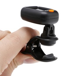 Wholesale Violin Digital Tuner - Wholesale- Guitar Accessories Black Clip-On Digital Tuner AT101 For Bass Violin Acoustic Electric Guitar Fancy