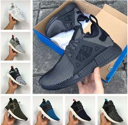 Wholesale Olive Socks - 2017 NMD XR1 Mastermind Japan Olive green Glitch Black White Camo x City Sock PK NMD_XR1 Primeknit Running Shoes Men Women Sports shoes