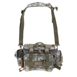 Wholesale Lure Waist Bag - Trulinoya 40 * 15 * 19cm Fishing Bag Multi-function Fishing Tackle Bag Waterproof Canvas Waist Fishing Lure Bag Shoulder