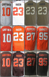 Wholesale Footballs Robert - American Football Jersey 10 Robert Griffin III 23 Joe Haden 27 Jabrill Peppers 95 Myles Garrett Men Elite Jerseys