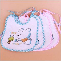 Wholesale Cartoon Wear New Cloth - New 2017 Cotton Baby bib Infant saliva towels Bibs Burp Cloths Baby Random delivery Baby Feeding wear retail