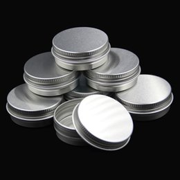 Wholesale Small Plastic Bottles Lids - 15g aluminum empty cosmetic container with lids 15ml small round lip balm tin solid perfume cosmetic packaging jar sample bottle