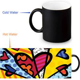 Wholesale Graffiti Colorful - Wholesale- Colorful graffiti Heat Reveal Mug color change coffee cup 12 OZ 350ml sensitive morphing mugs