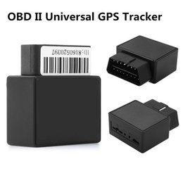 Wholesale Gsm Gprs Tracking Devices - Universal MINI 16PIN OBD II Car Vehicle Truck GPS Realtime Tracker Mini OBD2 Tracking Device GSM GPRS