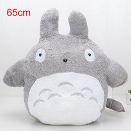 Wholesale Adult Figure Anime - 65cm Classic Movie Famous My Neighbor Totoro Stuffed Plush Toys Cartoon Cat Animal Toy Adult Children Kids Dolls Nice Gift